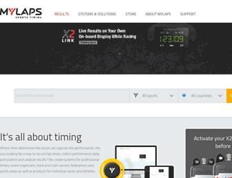 mylaps.com screenshot