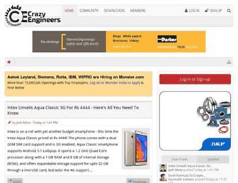 crazyengineers.com screenshot