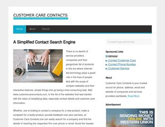 customercarecontacts.com screenshot
