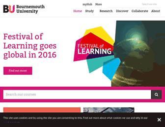 bournemouth.ac.uk screenshot