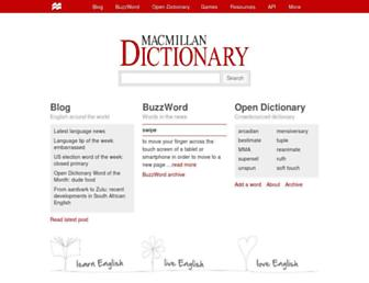 Thumbshot of Macmillandictionary.com