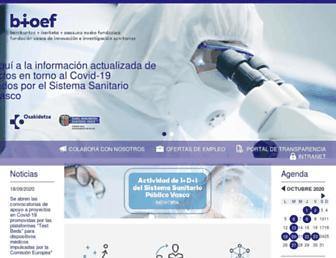 Main page screenshot of bioef.org