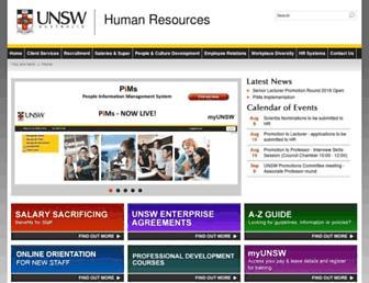 hr.unsw.edu.au screenshot