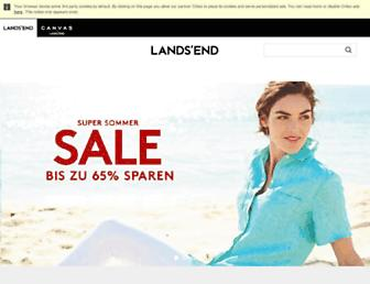 Main page screenshot of landsend.de
