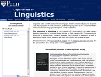 babel.ling.upenn.edu screenshot