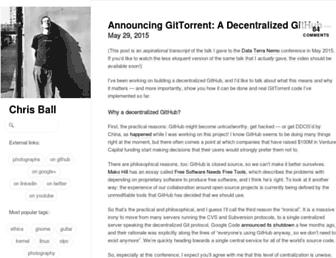 Main page screenshot of blog.printf.net