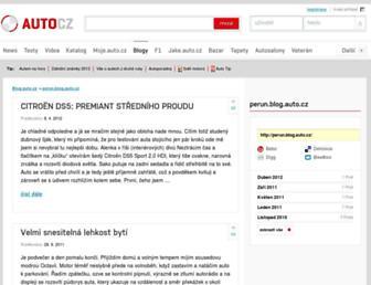 Main page screenshot of perun.blog.auto.cz