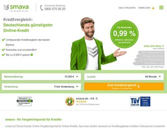 Main page screenshot of smava.de