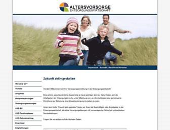 Main page screenshot of ave-rente.de