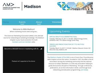 amamadison.org screenshot