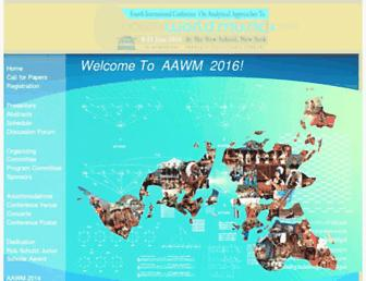 aawmconference.com screenshot
