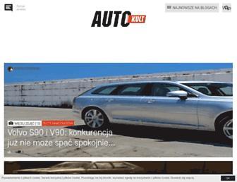 Main page screenshot of autokult.pl