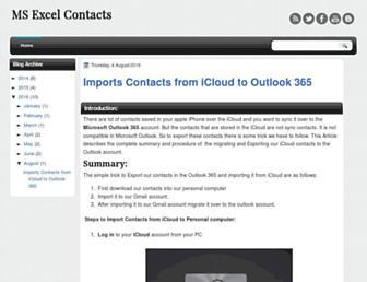 excelcontacts.blogspot.com screenshot