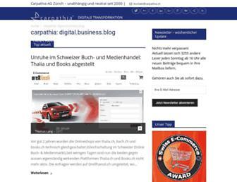 Main page screenshot of blog.carpathia.ch