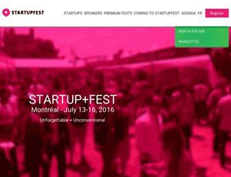 Thumbshot of Startupfestival.com