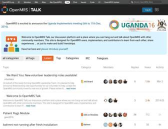 talk.openmrs.org screenshot