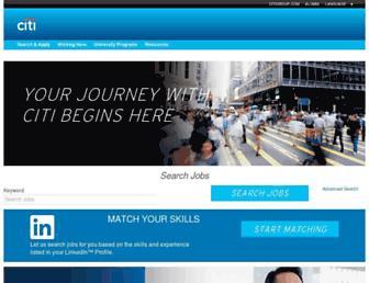 jobs.citi.com screenshot
