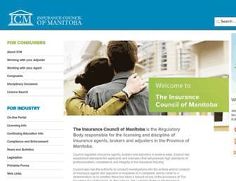 icm.mb.ca screenshot