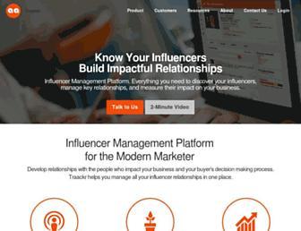 traackr.com screenshot