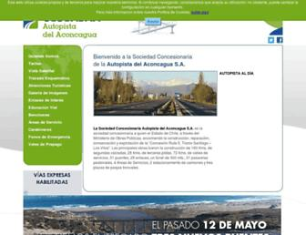 Main page screenshot of scada.cl