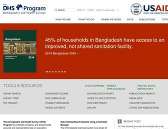 dhsprogram.com screenshot