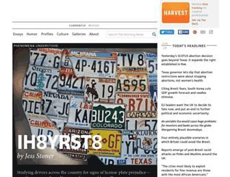 Main page screenshot of themorningnews.org