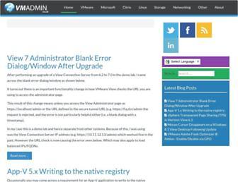 vmadmin.co.uk screenshot