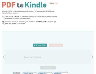 pdf2kindle.com screenshot