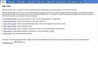 kmltools.appspot.com screenshot