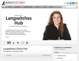 Main page screenshot of langwitches.org