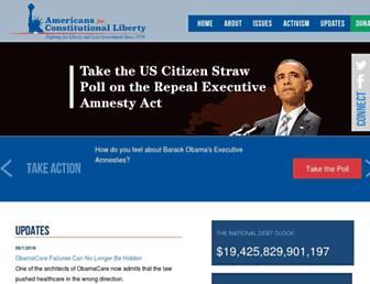 Main page screenshot of conservativeusa.org