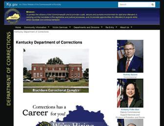 corrections.ky.gov screenshot
