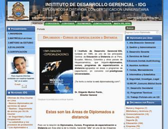 diplomadosidg.com screenshot