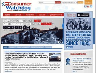 consumerwatchdog.org screenshot