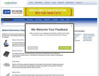 Thumbshot of Medilexicon.com