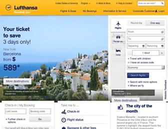 lufthansa.com screenshot