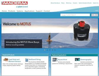 aanderaa.com screenshot