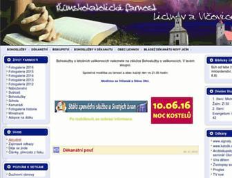 lichnov.farnost.cz screenshot