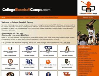 collegebaseballcamps.com screenshot