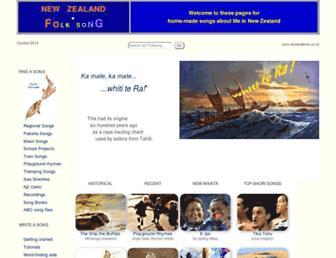 folksong.org.nz screenshot