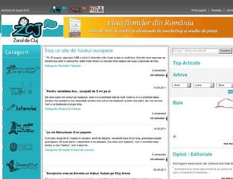 Main page screenshot of zcj.ro
