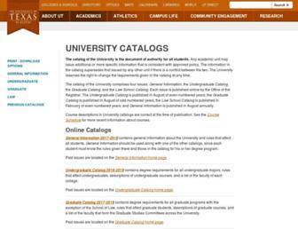 catalog.utexas.edu screenshot
