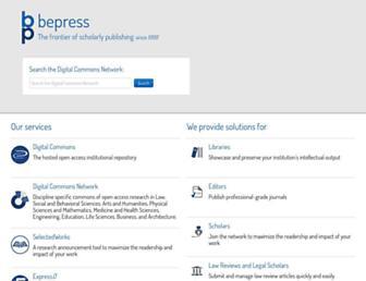 bepress.com screenshot