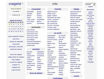 Main page screenshot of santiago.craigslist.org