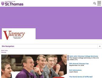 Main page screenshot of vianney.net