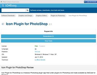 icon-plugin-for-photoshop.en.lo4d.com screenshot