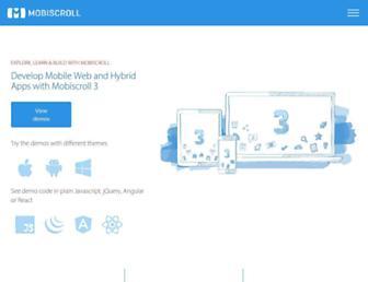 demo.mobiscroll.com screenshot