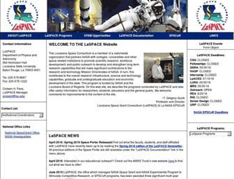 laspace.lsu.edu screenshot