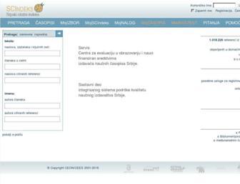 scindeks.ceon.rs screenshot