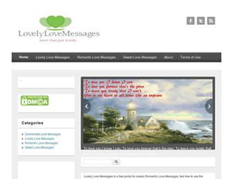 lovelylovemessages.com screenshot